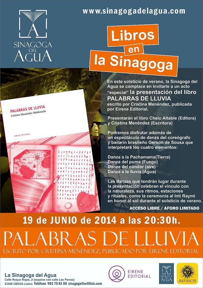 Presentación Del Libro Palabras De Lluvia En La Sinagoga Del Agua Sinagoga Del Agua