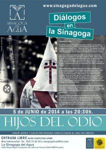 cartel concierto DIALOGOS 5 JUNIO 2014  en la sinagoga OPT