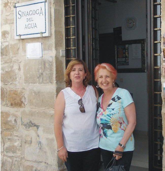 Rosa María Calaf visitó la Sinagoga del Agua en Úbeda