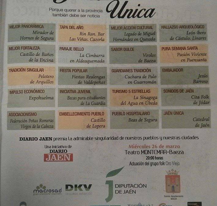 Premio del Diario Jaén «Turismo 5 estrellas»