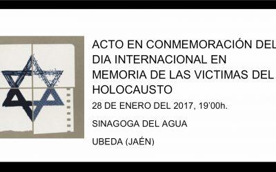 DÍA INTERNACIONAL EN MEMORIA DEL HOLOCAUSTO